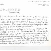 Carta de Manuel Ferrand, 22 enero 1982