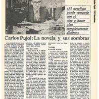 Carlos Pujol: La novela y sus sombras