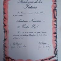 Diploma de la Academia de los Ficticios